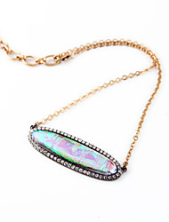 Women's Statement Necklaces Oval Chrome Unique Design Rainbow Jewelry For Gift Daily 1pc