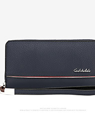 Men Bags All Seasons PU Clutch with for Event/Party Casual Formal Office & Career Blue Black Brown Khaki