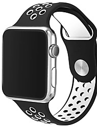 Replacement Watch Band for Apple Watch Series 1&2 Soft TPU 42mm Sport Double Color