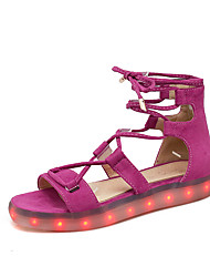 Feminino-Sandálias-Tira no Tornozelo Light Up Shoes Shoe luminous-Rasteiro--Flanelado-Casual Para Esporte