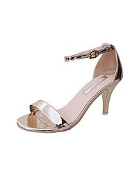 Mujer-Tacón Stiletto-Innovador Zapatos del club-Sandalias-Boda Exterior Vestido Informal Fiesta y Noche-PU-Dorado Blanco Negro Plata