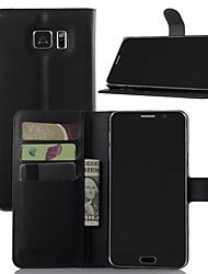 Назначение Чехлы панели Кошелек Бумажник для карт Защита от удара со стендом Чехол Кейс для Сплошной цвет Твердый Искусственная кожа для