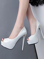 Damen-High Heels-Lässig-PUClub-Schuhe-Weiß Schwarz Violett