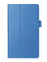 Para la cubierta del caso con el cuero lleno de la PU del color sólido del caso lleno del cuerpo del tirón del soporte para lenovo tab2