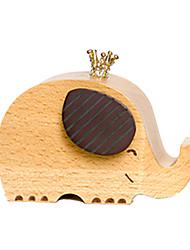 Music Box Elephant Novelty & Gag Toys Wood Unisex