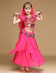 Shall We Belly Dance Outfits Kid Performance Chiffon 4 Pieces