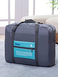Bolsa de Viaje Plegable Portable Gran Capacidad para Almacenamiento para Viaje Poliéster-Naranja Rosa Verde Azul