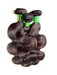 Good 8A Indian Virgin Hair Body Wave Mixed 3Pieces 300g Lot Raw Real Indian Human Hair Weaves Bundles Natural Color Black For one Head Beautysister