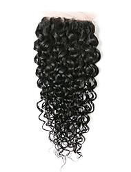 8Inch Braizlian Kinky Curly Closure Best Virgin Brazilian Lace Closure Bleached Knots closures Free/Middle/3Part Closure