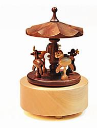 Caixa de música Forma Cilindrica Madeira