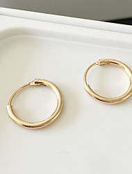 Hoop Earrings Alloy Fashion Silver Golden Jewelry Daily Casual 1 pair
