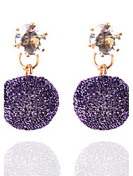 Boucles d'oreille goutte Boucles d'Oreille Strass Circulaire Style Punk euroaméricains Simple Style British Elegant Mode Vintage Bohême