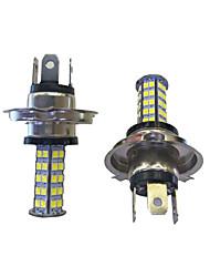 2Pcs H4 68*2835SMD LED Car Light Bulb White Light DC12V