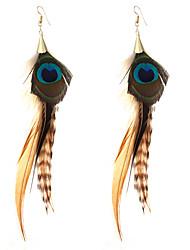 lureme® Drop Earrings Jewelry Turkish Bikini Crossover Punk Luxury Statement Jewelry Feather Alloy Geometric Wings / Feather Jewelry ForWedding