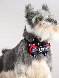 Gato, cão, ajustável, polka, pontos, bowtie, sinos