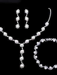 Women's Jewelry Set Pearl Necklace Imitation Pearl AAA Cubic Zirconia Costume Jewelry Fashion Multi-ways Wear Alloy Round 1 Necklace 1
