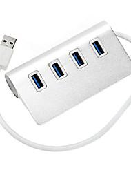 4 Ports USB 3.0 High Speed HUB Ultra Slim fashion Silver