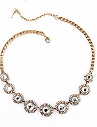 Women's Strands Necklaces Round Chrome Unique Design Personalized Jewelry For Housewarming Congratulations Casual