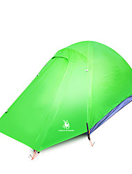 2 persons Tent Double Automatic Tent One Room Camping Tent >3000mm Nylon OxfordMoistureproof/Moisture Permeability Waterproof Rain-Proof