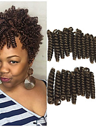 1pack new curlkalon crochet braids Toni curl 10inch synthetic kanekalon braiding hair 20 roots/pack curls bouncy twist crochet hair 5packs make head