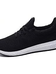 Femme Chaussures d'Athlétisme Confort Tulle Printemps Automne Décontracté Marche Confort Combinaison Talon Plat Blanc Noir Rouge 5 à 7 cm
