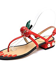 Women's Shoes Libo New Style Hot Sale Party / Wedding Sexy Comfort Fashion Low Heel Sandals Black / Red