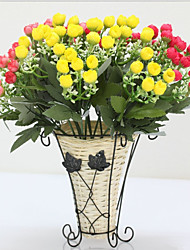 2017 2PCS Artificial Flower Roses Bud Flowers Bouquet for Home Decor and Wedding Decorations