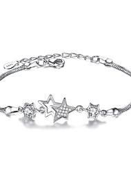 Femme Chaînes & Bracelets Mode Argent sterling Forme d'Etoile Bijoux Pour Soirée Occasion spéciale Regalos de Navidad 1pc