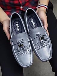 Herren-Sneakers Frühjahr Komfort Leder Tüll lässig blau braun silber schwarz