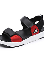 Women's Sandals Summer Gladiator Leatherette Outdoor Dress Casual Creepers Buckle Red White Walking