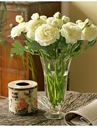 10 Peças 10 Ramo Seda Peônias Flor de Mesa Flores artificiais
