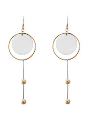 Women's Girls' Drop Earrings Jewelry Circular Unique Design Tag Square Classic Fashion Personalized Hypoallergenic Cowry Alloy Drop
