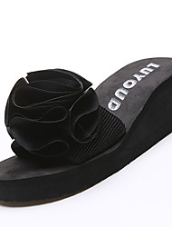 Feminino-Chinelos e flip-flops-Conforto-Anabela--Tecido-Casual