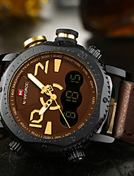 Mens Watches Top Brand Luxury NAVIFORCE Fashion Casual Quartz Watch Sport Led Display Waterproof Leather relogio masculino
