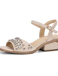 Femme-Mariage Extérieure Habillé Décontracté--Talon Compensé-Confort Nouveauté Flower Girl Chaussures club de Chaussures-Sandales-Laine