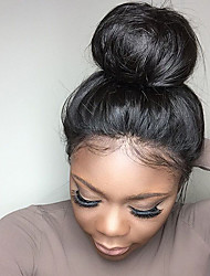 Brazilian Straight Silk Top Full Lace Wigs with Natural Hairline for Black Women with Baby Hair 130% Density Full Lace Wigs Natural Color No Shedding