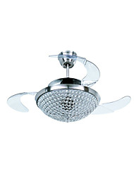 Ceiling Fan ,  Modern/Contemporary Traditional/Classic Electroplated Feature for Crystal Designers MetalLiving Room Dining Room Study