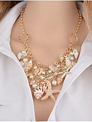 Women's Girls´ Choker Necklaces Pendant Necklaces Statement Necklaces Imitation Diamond Imitation Pearl AlloyUnique Design Rhinestone