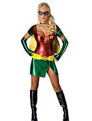Cosplay Kostuums Mantel Superhelden Festival/Feestdagen Halloweenkostuums Overige Kleding Handschoenen Mantel Halloween VrouwelijkSpandex