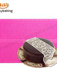 Round Flower Chain Lace Mat Cake Lace Decorate Silicone Mat Cake Decorating Cake Mat Moulds Mould Lace Fondant Mat
