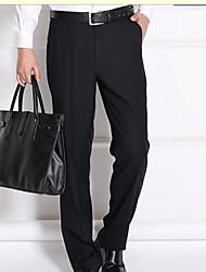 Men's Low Rise Micro-elastic Business Pants,Street chic Slim Solid