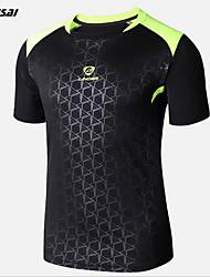 Ls marques homme chemise de tennis sports de plein air o-neck coupe rapide respirant running badminton t-shirt à manches courtes pour