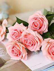 5 Une succursale Soie Roses Chrysanthème Fleur de Table Fleurs artificielles