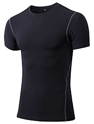 Men's Running T-Shirt Short Sleeves Quick Dry Breathable Sweat-wicking Comfortable T-shirt Compression Clothing Top for Yoga Exercise &