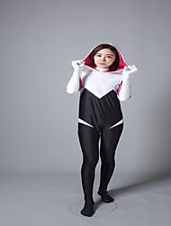 Ternos Zentai Ternos Zentai com Padrão Fantasias de Cosplay Super-Heróis Ninja Fantasias Fantasia Zentai Fantasias de Cosplay Branco