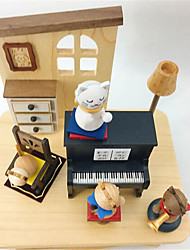 Music Box Square Novelty & Gag Toys Wood Not Specified