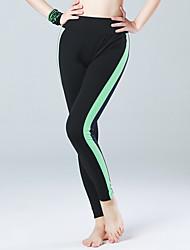 calças de yoga Meia-calça Alta Respirabilidade (>15,001g) Materiais Leves Confortável Calças Push Up Compressão Natural Com ElásticoModa