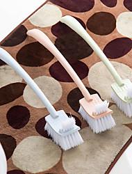 Long Handle Plain Plastic Toilet Brush Fur