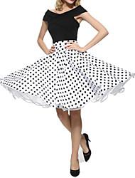 Jupes Aux femmes Mi-long Grandes Tailles Polyester Micro-élastique