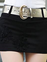 Femme Sexy Taille Haute Mini Jupes,Trapèze Fleur